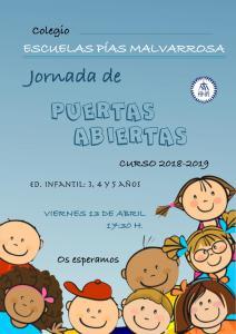 JORNADA DE PUERTAS ABIERTAS INFANTIL.